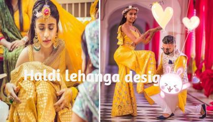 Beautiful ❣️ lehanga designs TrendingLenhanga PartyWearDressPreetyDressesYellowLenhangasimple