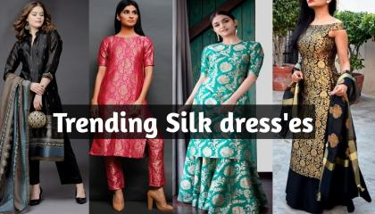 👌Silk dress designsTrending dress 2021Beautiful dress 👗simple and unique design