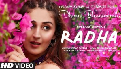 Radha (Official Video) Dhvani Bhanushali  Abhijit Vaghani  Kunaal Vermaa  Bhushan Kumar