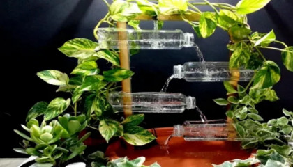 How to make terracotta fountain with plastic bottle DIY