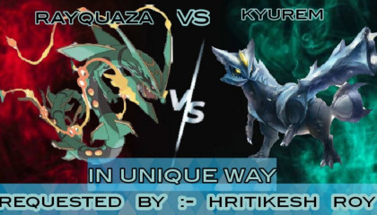 kyurem vs rayquaza in hindi  Kyurem vs rayquaza who is strongest  Pokemon