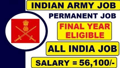 INDIAN ARMY LATEST JOB VACANCY BE , B-Tech CIVIL , MECHANICAL , ELECTRICI
