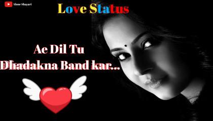 Ae Dil Tu Dhadakna Band kar / Love Shayari Status Video /  Hamdard Shayari