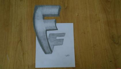 3D drawing art  How To draw 3D Alphabet