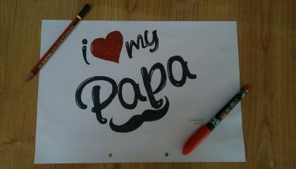 Happy Father's day easy and Beautifull Drawing  happy Father's day drawing idea  kkdrawing