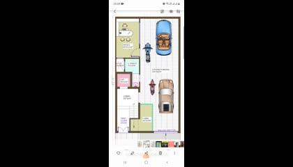 25x50 house design Autocad plan