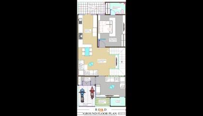 23x50 house plan  23 x 50 house plan, 23x50 floor plan design