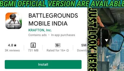 BGMI OFFICIAL VERSION ARE AVAILABLE ON PLAY STORE     DOWNLOAD NOW LINK IS IN DESCRIPTION
