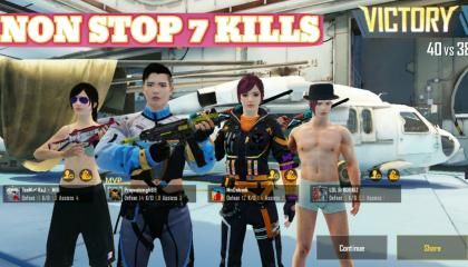 PUBG Mobile (TDM Hangar Mode): NON STOP 7 KILLS 🛑