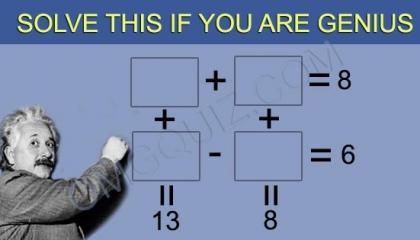 Math Quiz Only For Genius