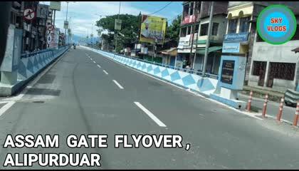 Assam gate flyover bike ride  Alipurduar  West Bengal  India