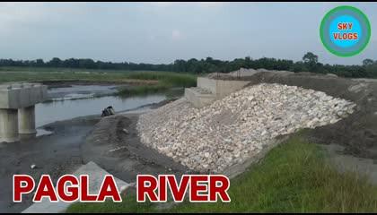 Pagla River Bridge Under Construction , Baniagaon , Alipurduar, West Bengal, India
