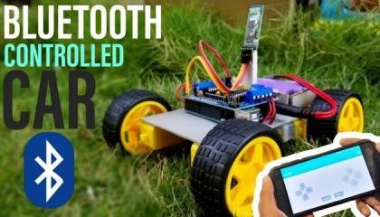 ब्लूटूथ से चलने वाली गाड़ी मोबाइल से चलाए  Bluetooth car DIY
