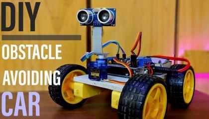 DIY  OBSTACLE AVOIDING CAR  मैने ऑब्सटेकल अवॉइडिंग कार बनाई