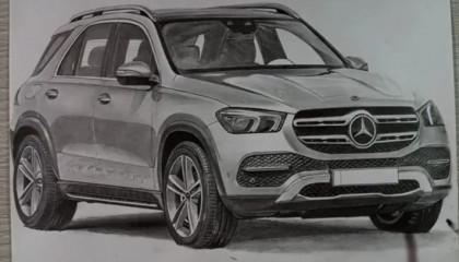 Drawing Mercedes car ( realistic)
