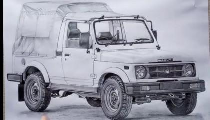 Drawing Mahendra Jeep