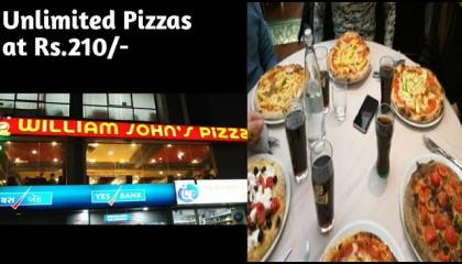 Visit to Pizza point/Fun with family at william jones pizzas