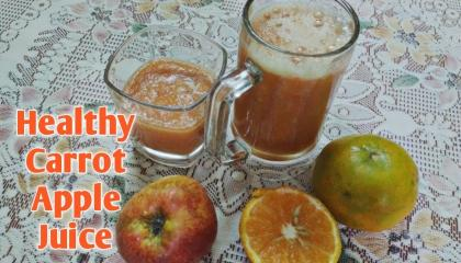 Healthy Apple Carrot Juice/ Breakfast Recipe