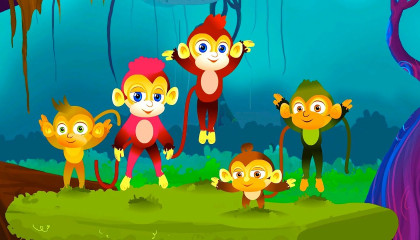 Five Little Monkeys  Kindregarten Nursery Rhymes  Videos For Toddlers