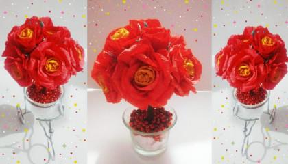 Easy paper flower making ideas  पेपर से फूल बनाने का आसान तरीका  papercraft