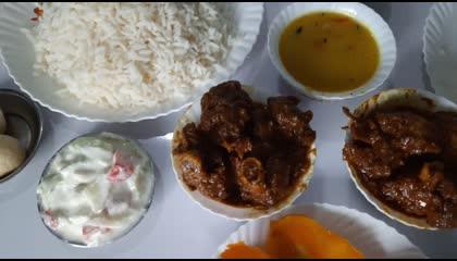 কষা খাসির মাংস চ্যালেঞ্জ_ spicy mutton curry eating challenge