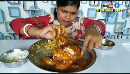 whole chicken and rice eating challenge