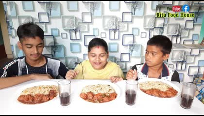 fried rice and chilli chicken funny eating challenge