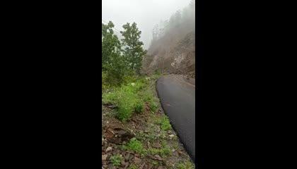 landslide on hills