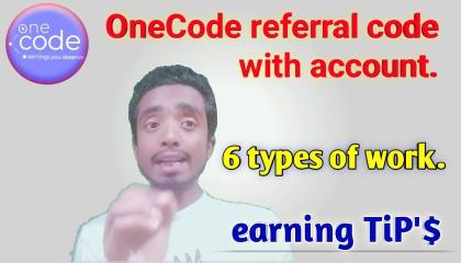 OneCode best earning app in 2021. gyanibaba28