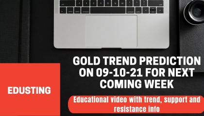 🔴 Gold trend prediction on 9-10-21 for next coming week - EduSting