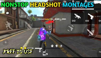 free fire one tap montages  free fire one shot montages