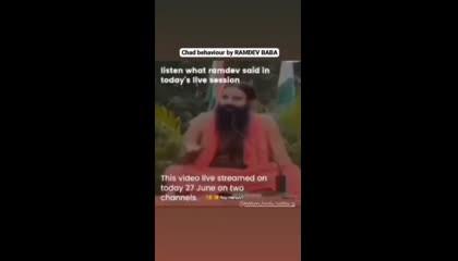 Ram Dev baba on fire 🔥