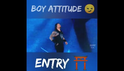 Boy Attitude 😏 | Entry ⛩️ | Let's Watch |  Roman Reigns | #shorts #romanreings #wwe #letswatch