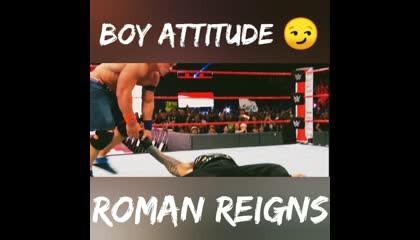 Boy Attitude 😏 | Roman Reigns | Let's Watch |  #shorts #romanreings #wwe #letswatch
