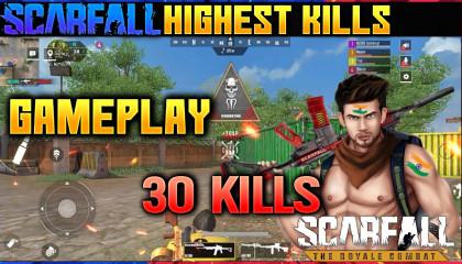 Scarfall highest kill  scarfall new update  scarfall 30 kills  scarfall ncoreyt  faug scarfall ncoreyt faug