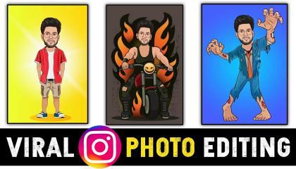 Toon App Photo Editing Tutorial Hindi2021  Instagram Viral Photo Editing  Cartoon Photo Editing