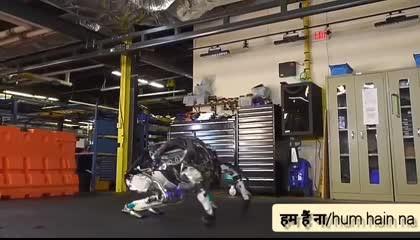 robot handling the situation