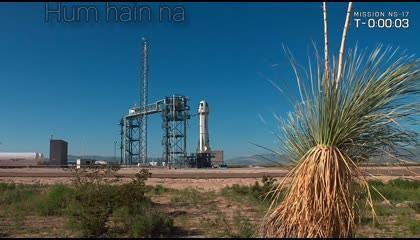 rocket launching blue origin