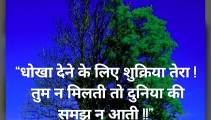 new love emotional status dhokha dene ke liye sukriya