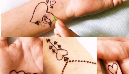Creative mehndi designs  Cute Mehndi tattoo