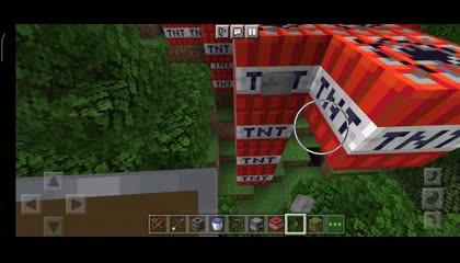 Minecraft gameplay TNT