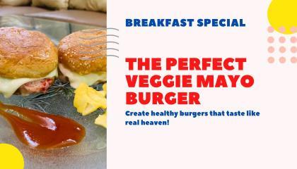 Veg Mayonnaise burgerEasy&quick breakfast शाकाहारी मेयोनेज़ बर्गर त्वरित और आसान नाश्ता नुस्खा