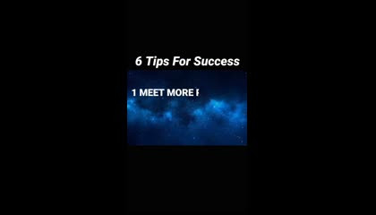 6 tips for success