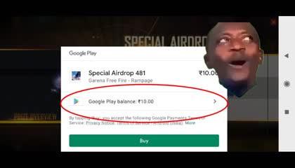 Free Fire buying airdrop ₹10 redeem code