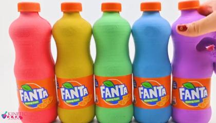 Satisfying Video l How To Make Rainbow Fanta with Kinetic Sand Cutting