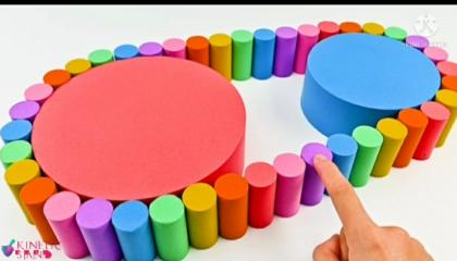 Satisfying VideoStairs with Kinetic Sand Cutting ASMRainbow