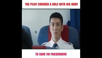 The Pilot overhaul with his body to save  pessenger latest lyrics BGM