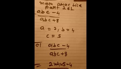 math practice part 261