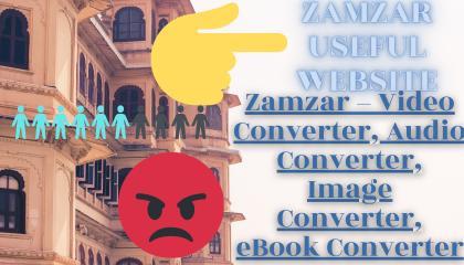 Zamzar VideoConverter, Audio Converter, ImageConverter, eBook Converter, Converter TECHWITHVAISHNAV