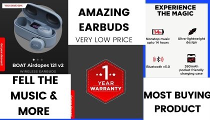 boat airdrops 121 V2 wireless  earbuds
